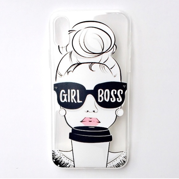 huge selection of 1eed0 3e154 NEW iPhone X Case Girl Boss Coffee Sunglasses Boutique